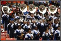 Hampton marching Force performs in the stands